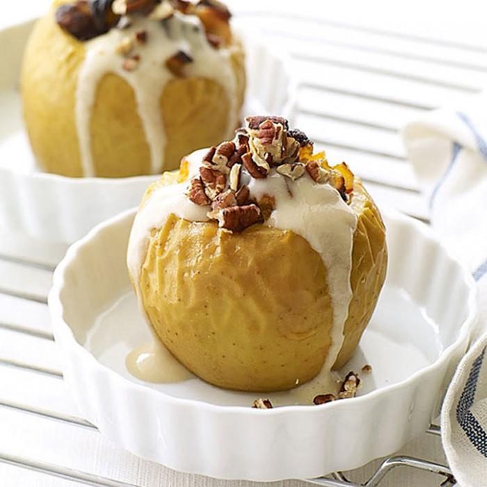 Простой домашний рецепт вкуснятины! Десертные печеные яблоки с мороженым!