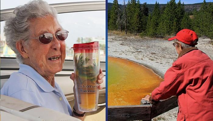 В свои 90 она отказалась от химиотерапии и отправилась в путешествие вместе с семьей