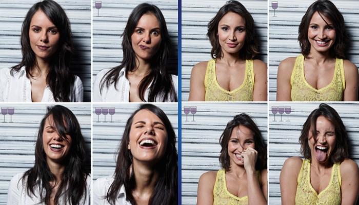 Как люди выглядят после 1, 2 и 3 бокалов вина: найдите 7 отличий