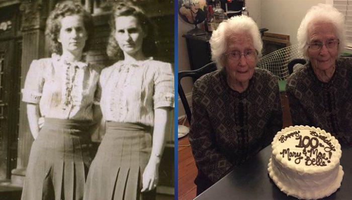 Уникальный феномен: 100-летние близнецы, которые никогда не расставались друг с другом!