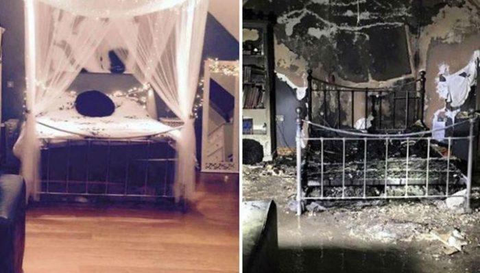 Спальня девочки-подростка сожжена дотла из-за ошибки, которую делаете и Вы!