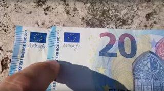 Как распознать фальшивую банкноту в 20 евро: 5 мест, на которые вы должны обращать внимание, получая деньги