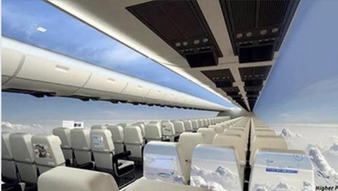 Самолет без окон дает новые ощущения своим пассажирам.