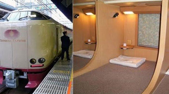 Плацкарт в японском ночном поезде – ничего общего с нашими вагонами