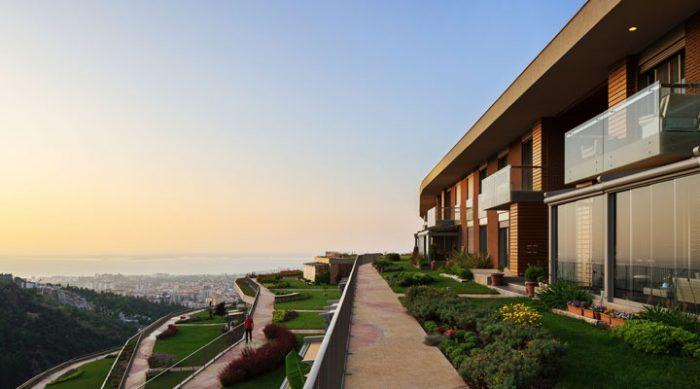 Жилой комплекс «Висячие сады», который находится в турецком городе Измир. Это стоит увидеть.