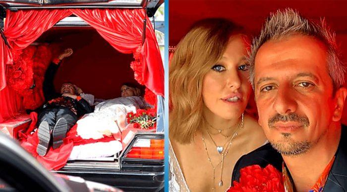 Лёжа в катафалке: свадьба Собчак и Богомолова, как это было…